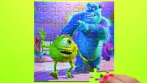 MONSTERS UNIVERSITY Disney Puzzle Games Rompecabezas Sullivan, Mike, Boo Kids Learning Toy