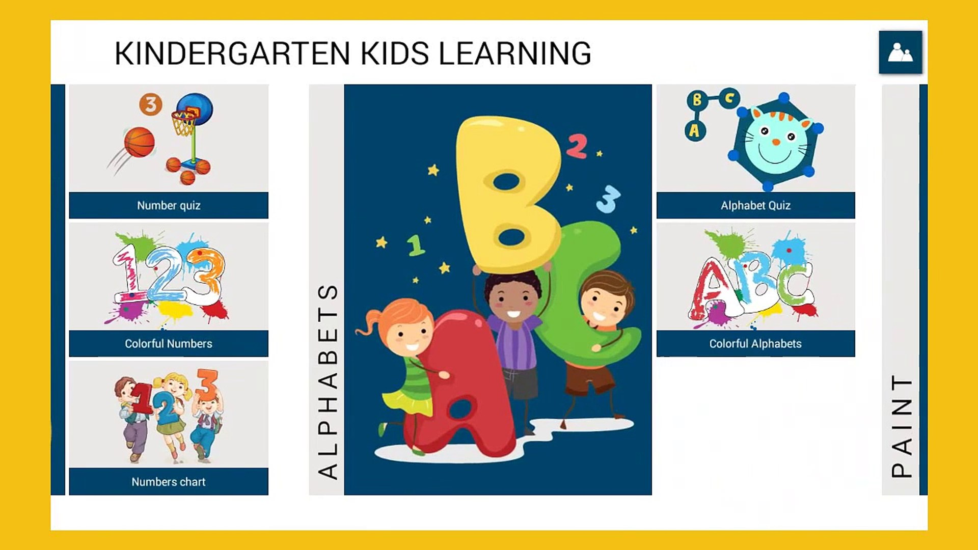 Kindergarten Kids learning Kids learn Alphabet and Numbers Education app for Kids
