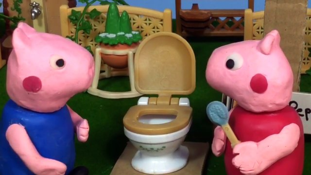 Peppa Pig Play-Doh Potty Shop Toilet Training With Spider-Man Mummy and Daddy Pig