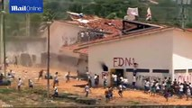 Brazilian police fire rubber bullets at inmates during riots