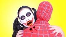 Joker Girl VAMPIRE ATTACK Spiderman Joker Maleficent Princess Anna Toys! Superheroes IRL