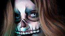 VOODOO SKULL MASK  Halloween Costume Makeup Tutorial  31 Days of Halloween  RawBeautyKristi