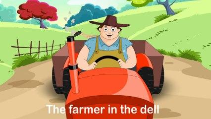 Farmer In The Dell (HD with lyrics) | Nursery Rhymes by EFlashApps