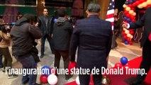 Une Femen interrompt l'inauguration d'une statue de Donald Trump
