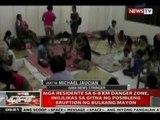 QRT: Mga residente sa 6-8 km danger zone sa bulkang Mayon, inilikas