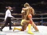 WWF Wrestlemania VII - Hulk Hogan Vs Ultimate Warrior Part 1