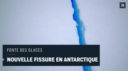 Une énorme fissure dans la banquise de l'Antarctique, filmée par un drone