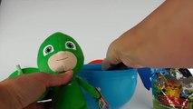 PJ MASKS! DISNEY JUNIOR! 3 PJ Masks On Play-Doh Surprise Egg! OWLETTE, CATBOY, GEKKO! Toy Surprises