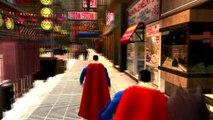 Колеса на автобусе идут круглый Бэтмен против Супермена детские стишки песни для детей с действий