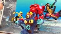 Big Hero 6 Figurine Playset Disney Store with Baymax Wasabi Honey Lemon Hiro Gogo Tomago and Fred