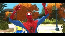 Disney Pixar Cars Spiderman, White Spiderman, Wolverine X-Men and Lightning McQueen & Nursery Rhymes
