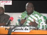 5è congrès extraordinaire du PDCI-RDA: les dernières précisions du Porte-parole, Kobenan Adjoumani