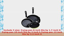 Cook N Home 8 to 10 to 12Inch  Frying PanSaute Pan 3Piece Set with NonStick Coating 197476d5