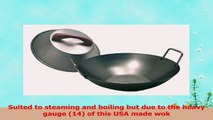 Stainless Steel USAMade Wok flat bottom round bottom available Lid sold separately 5353307a