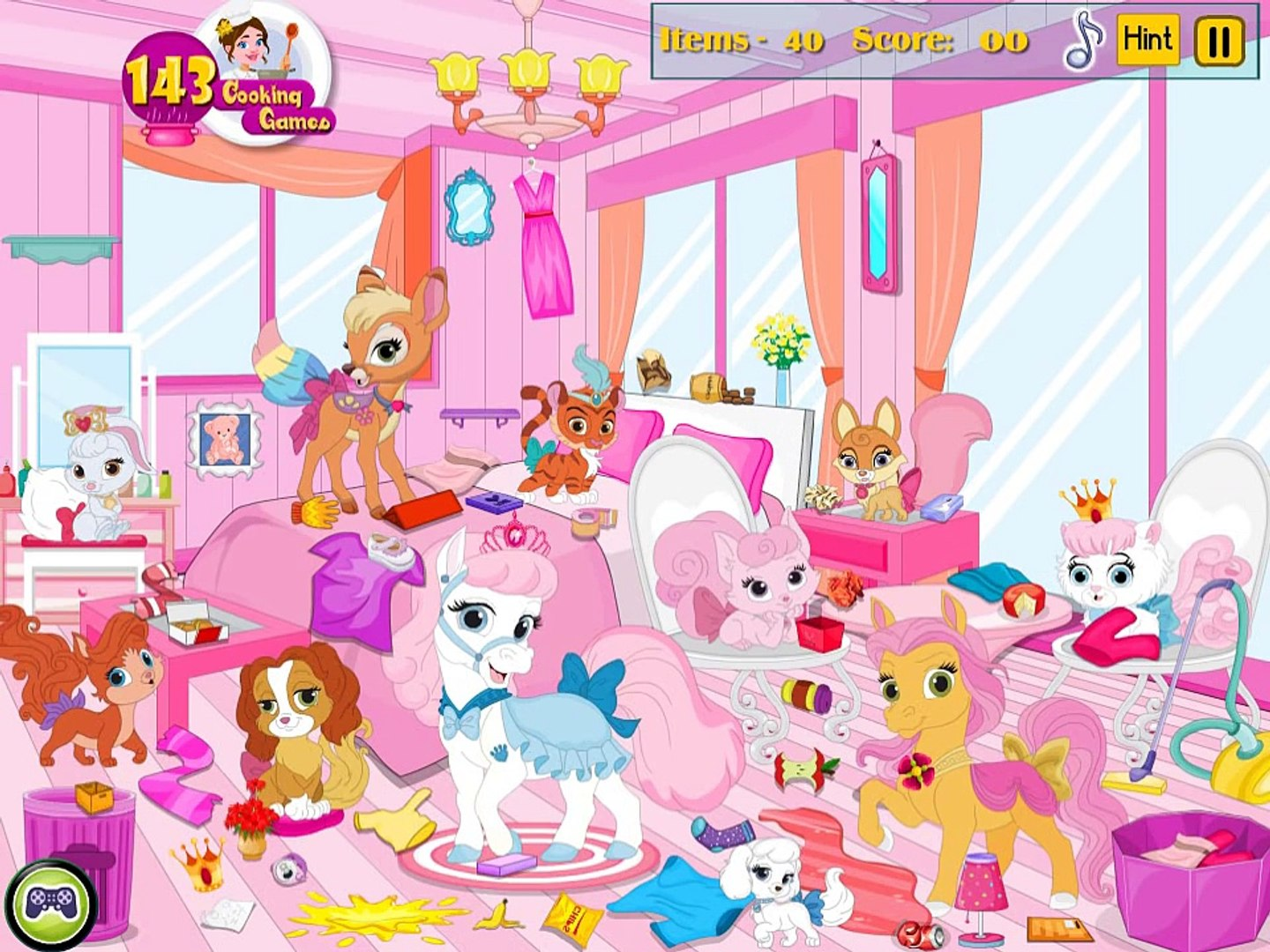 Princess Pets Room Cleaning - Best Baby Games For Kids