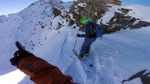 Adrénaline - Ski : Petite poursuite entre amis dans le couloir en S aux Arcs