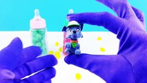 Baby Bottles Surprise Eggs with Jelly Beans! Learn Colors Fun Activity for Babies Kids and Toddlers!