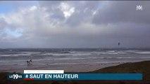 Kite surf Incroyable saut à plus de 19 mètres en Bretagne !