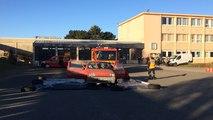 Exercice de désincarcération par les pompiers