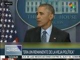 """Obama:""""Pies secos, pies mojados"""" era un remanente de la vieja política"""