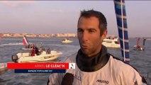 """VIDEOS. Arrivée du Vendée Globe : """"Je réalise que j'ai fait quelque chose d'énorme"""", confie Armel Le Cleac'h"""