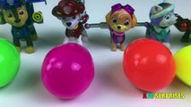 Learn Colors with Silly Putty Slime for Kids Toddlers Children Egg Surprises with Paw Patrol Toys