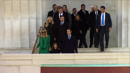 USA: La famille Trump assiste à un concert au Lincoln Memorial