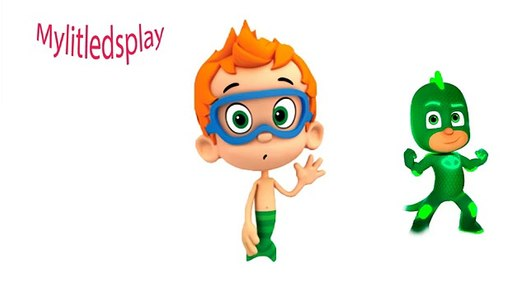 PJ Masks as Bubble Guppies Coloring For Kids Герои в ...