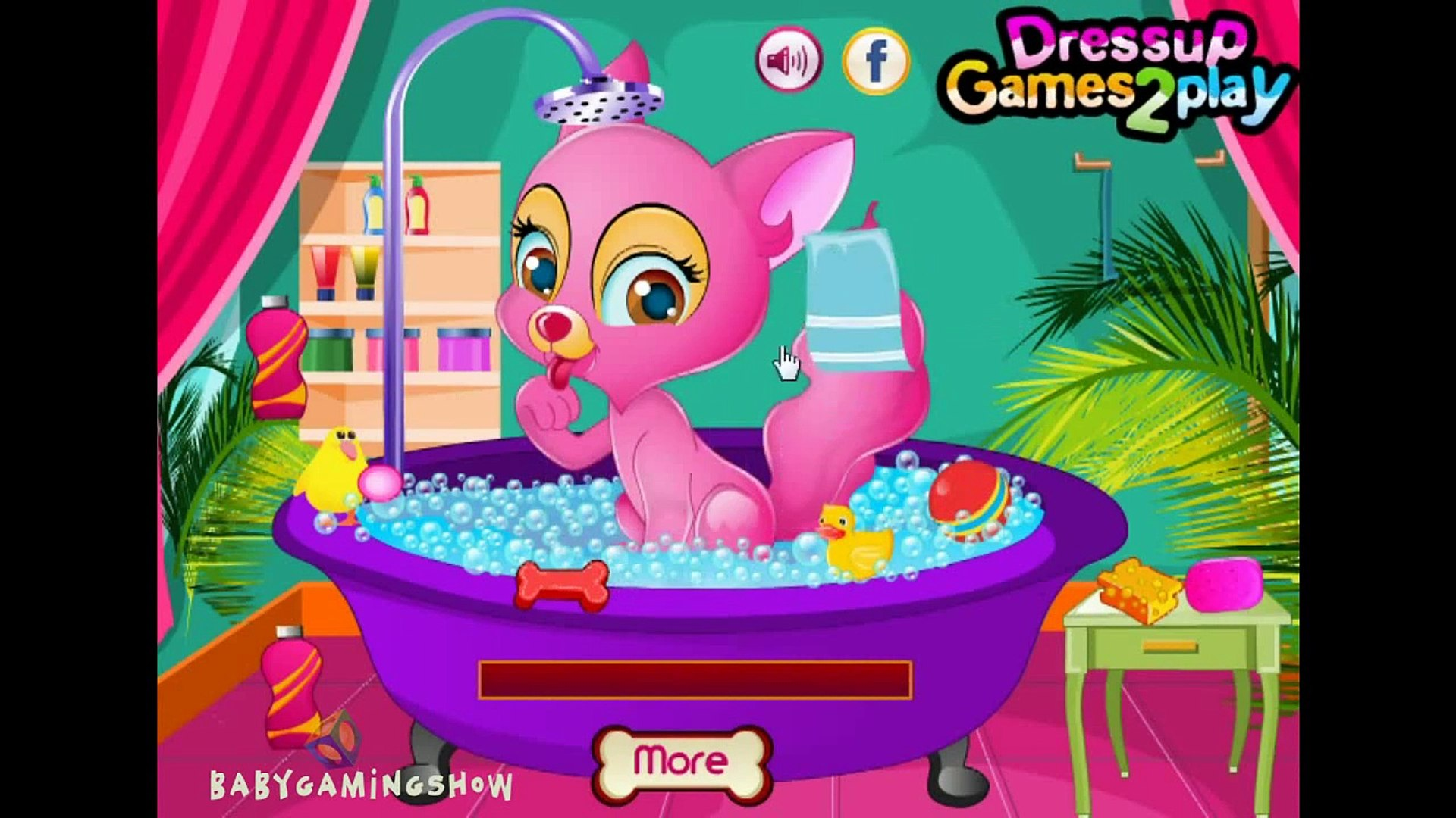 Animal And Pets Games - Princess Kitten Spa Care