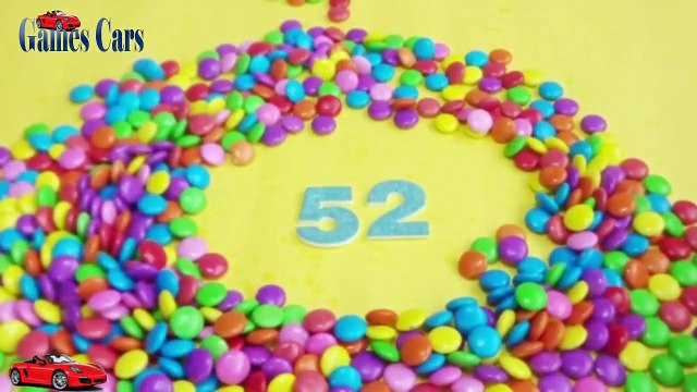 Jada Stephens Cars Learning To Count Numbers with M&M Candy Learning Toddler Counting Videos