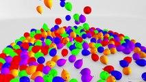 Папа палец семья песня стишки 3D детские для детей ясельного возраста дети | учим цвета с воздушными шарами