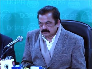 Rana Sana Ullah Press Conference about Miltry Courts Chunk.