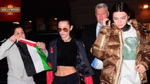 Bella Hadid & Kendall Jenner ATTACKED By Fan Waving Palestinian Flag   Hollywood Asia