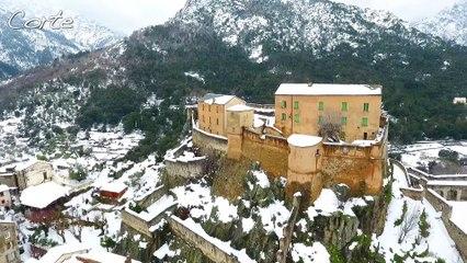VIDEO. Corse enneigée : de Vizzavona à Corte des paysages féériques