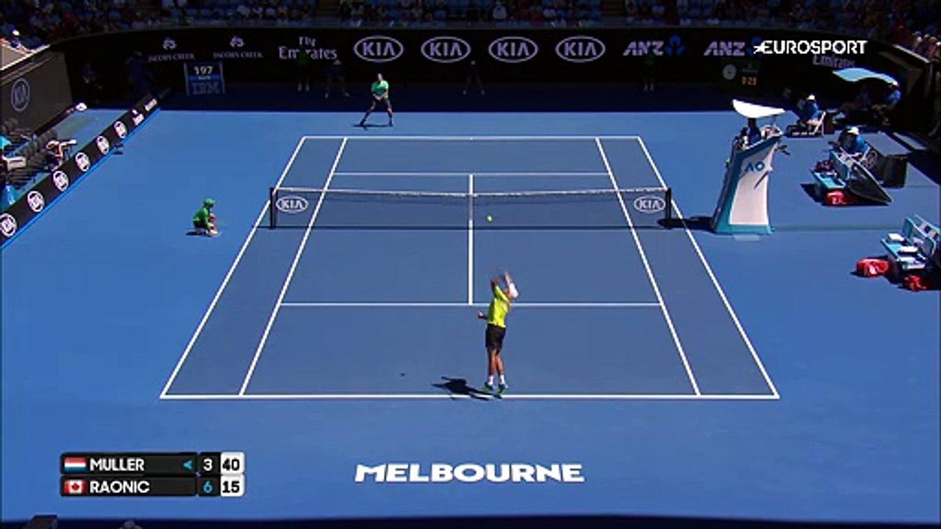 Avustralya Açık 2017: Gilles Muller - Milos Raonic (Özet)