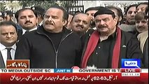 PTI never indulged in personal attacks, we are against personal attacks and politics of abuse - Naeem ul Haq outside SC