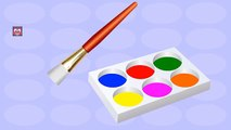 Body Painting Learning Colors | Hand Painting for Kids | Learn Colors with Body Paint