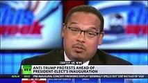 'No Donald Trump, no KKK, no racist USA!'  Protesters in NYC, Washington rally ahead of inauguration