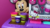 Play Doh Hello Kitty Donuts Minnie Mouse Kitchen Cupcakes DisneyCarToys