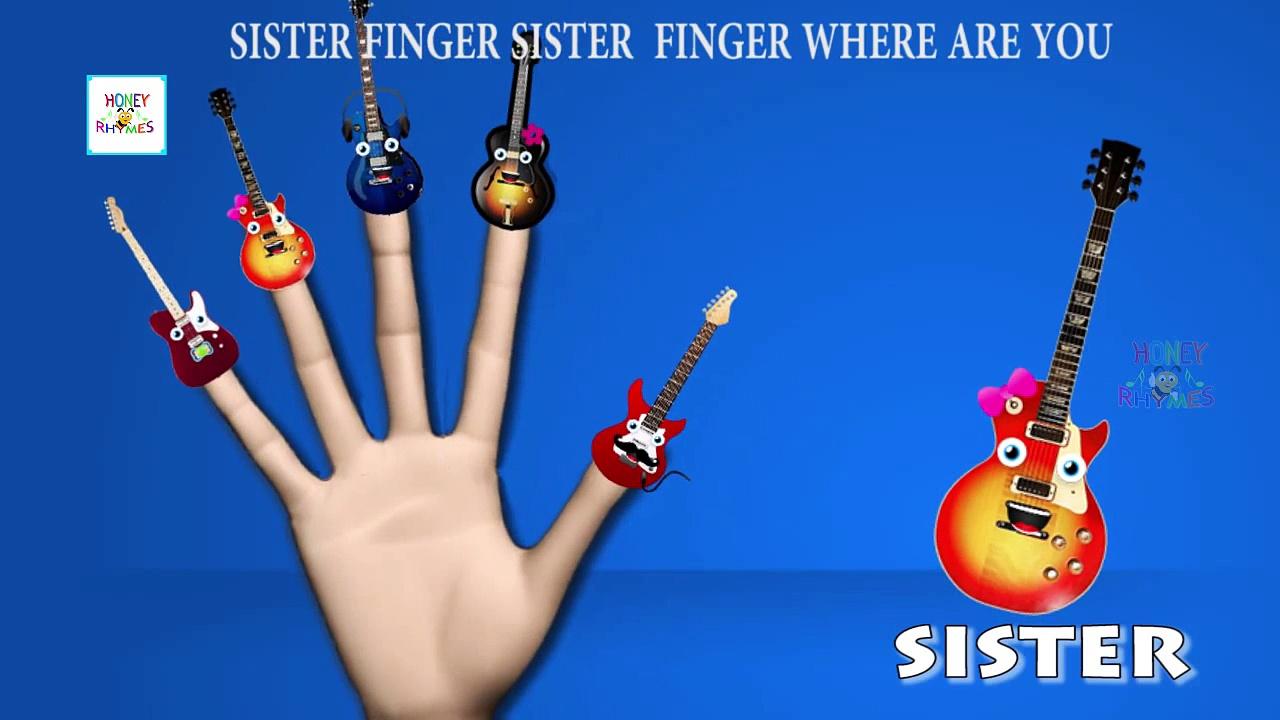 Guitar Finger Family Songs | Finger Family Nursery Rhymes | Cartoon Animation Children 3D Songs