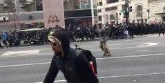 Investiture de Trump: échauffourées dans les rues de Washington