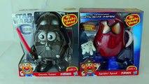 Spiderman vs Darth Vader Mr Potato Heads Marvel Spider Spud and Star Wars Darth Tater Toys