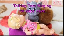 Baby Alive Doll and Talking Tom Singing a Lullaby Baby Dolls