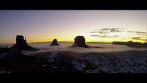 Monument Valley Sunrise, Utah, USA. Time-lapse.[4]