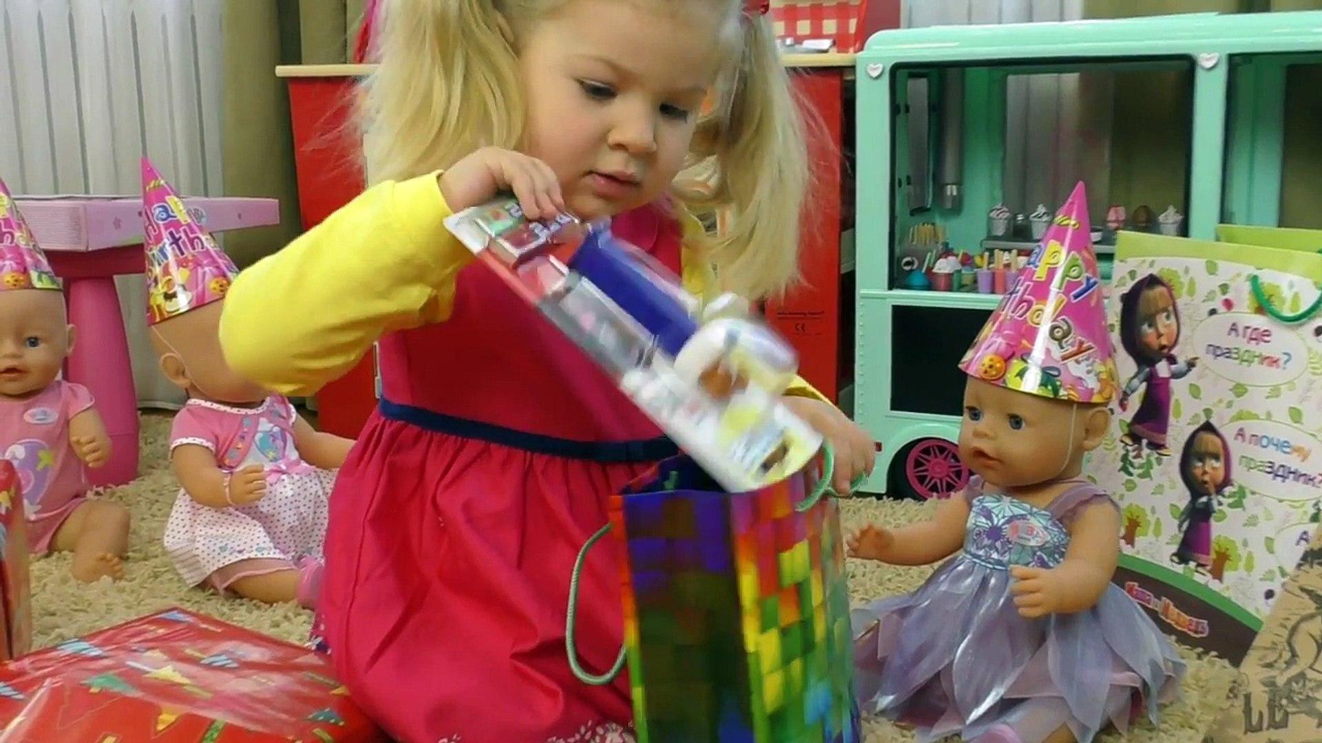 День Рождения Куклы Беби Бон МНОГО ПОДАРКОВ и Торт Видео для Детей Кукла Baby Bo