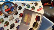 Thomas & Friends Minis Train Set Storage Wheel Case & The Great Race Blind Bags by FamilyToyReview