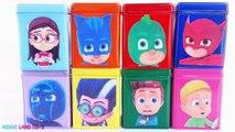 Learn Colors PJ Masks Play-Doh Dippin Dots DIY Cubeez Romeo Catboy Gekko Owlette Toy Surprises