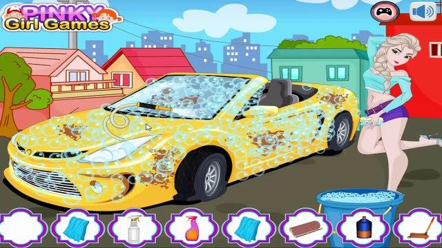 Elsa Car Wash Old Macdonald Nursery Rhyme Kids Car Games