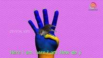 Finger семья рифмуется с 3D волк животных Finger семья дети Детские песни