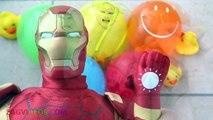 Learn Colors Iron Man & Marvel Avengers Wet Balloons Water Balloon Finger Family Nursery Rhymes-lhrHwPHI5-g